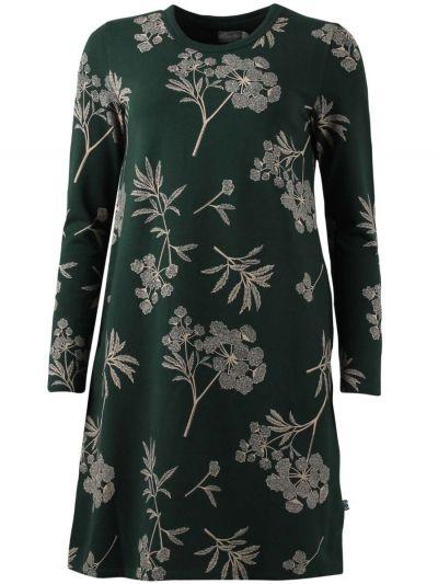 ORGANIC - Vibeke Dress Black green HEMLOCK