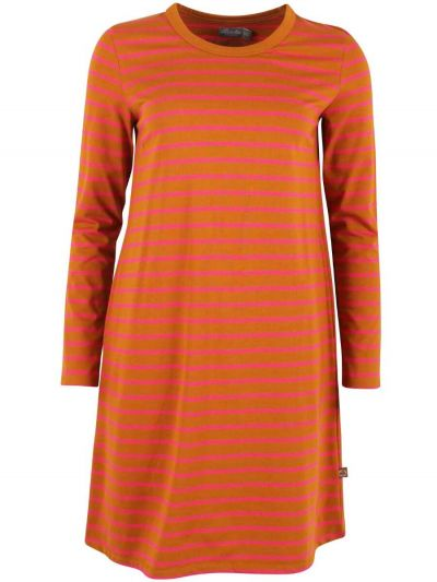 ORGANIC - Vibeke Dress Mustard/juicy pink