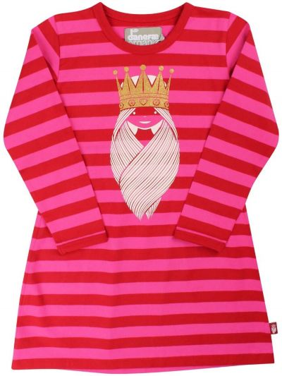 ORGANIC - Dorte Dress Ox Red/Pow Pink PRINSESSE
