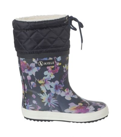 AIGLE Thermo Rubber Boots Navy Giboulee DARKFLOWER