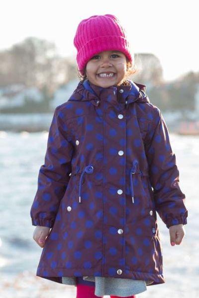 Cookie Winter Jacket Dark Bdx/Purple Blue DOTS