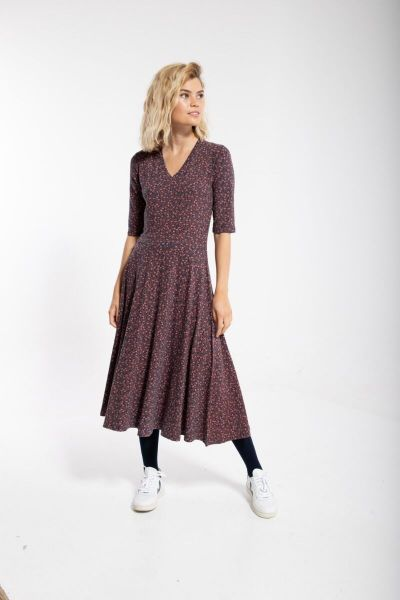 Organic - Andersen Dress Dusty navy FLEURIE