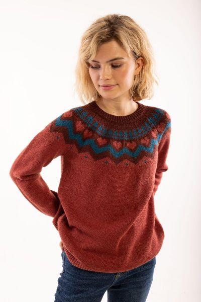 Anne Sweater Rose Tile