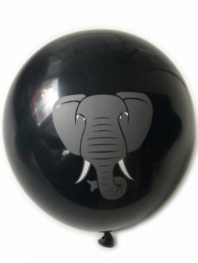 Balloons Black ELEPHANT