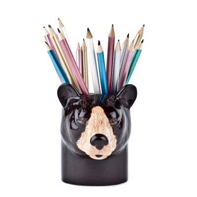 Quail Pencil Pot Black Bear