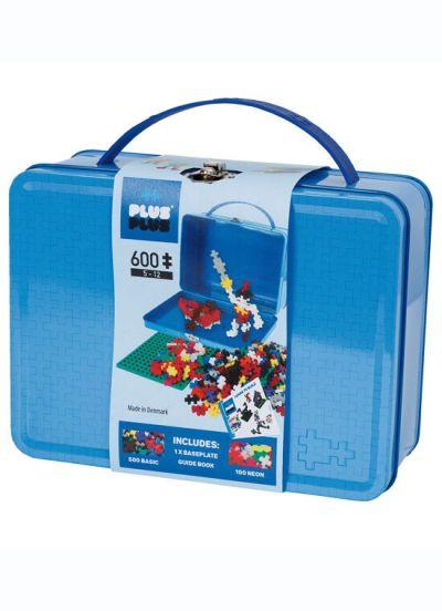 Plus Plus Suitcase Metal 600 PCS Blue Basic