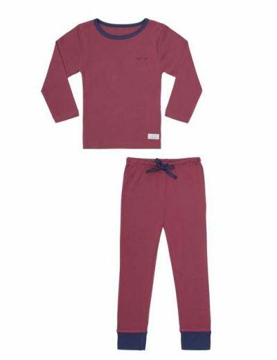 SNORK LS Pyjamas Vintage Red
