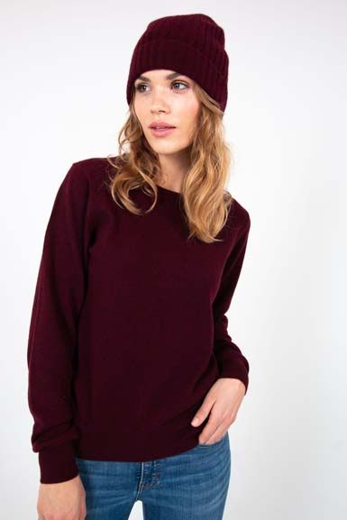 Cashmere Sweater Dark Bordeaux