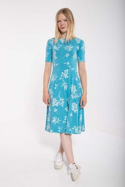ORGANIC - Charlotte Dress Rainblue/chalk HEMLOCK