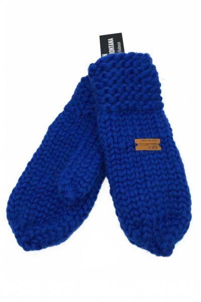 Håndstrikket Merinould Vanter Classic Blue