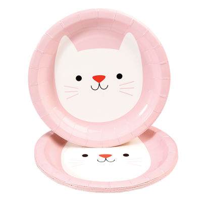 RL Paper Plates Round Cookie the cat