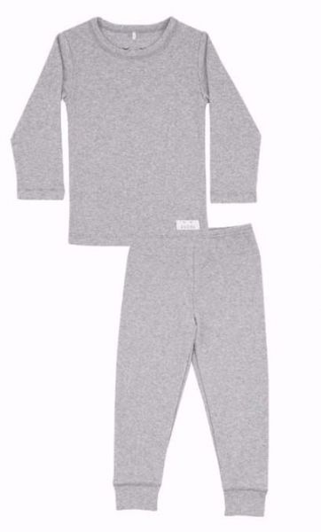 SNORK Basic LS Pyjamas Grey Melange