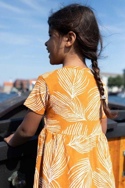 ORGANIC - Shellfish Dress Honey/chalk PALMA