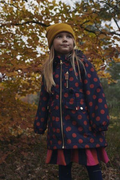 Rose Winter Jacket Dark Navy/Dark Rust DOTS