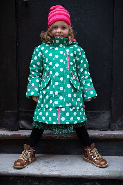 Kirstine Winter Jacket Green/chalk DOTS