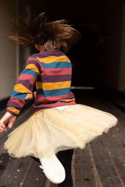 Sparkle Skirt Gold Glitter