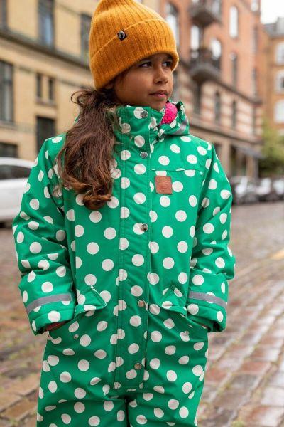 Bjoerne suit Green/chalk DOTS
