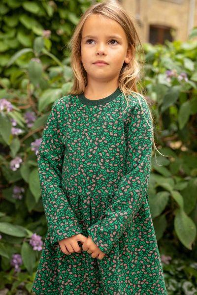 ORGANIC - Merete Dress Black/green FLEURIE