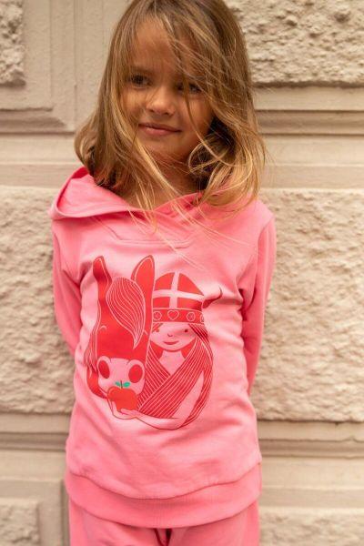 Ulrikke Hoodie Happy Pink IDUNN