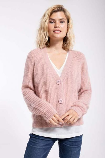 Adorable Cardigan Cold Rose