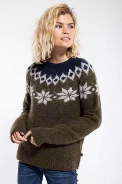 Fjeld Sweater Army_Offwhite/Navy