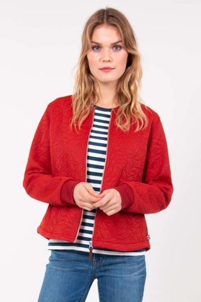 Agnes Bomber Rust Red