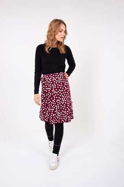 ORGANIC - Ollie Skirt Dark Bdx/Chalk FUN DOTS