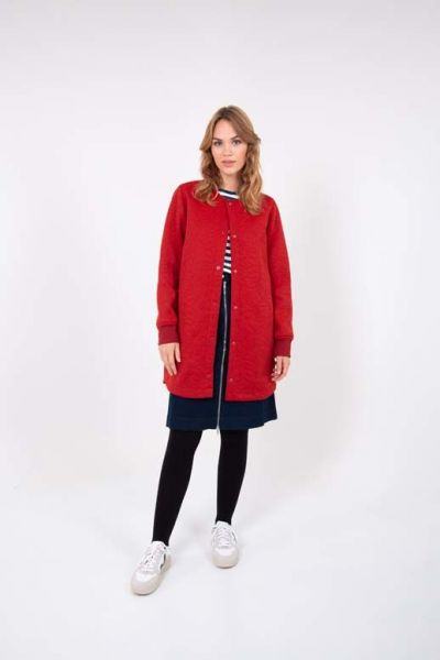 Maude Thermo Coat Rust Red