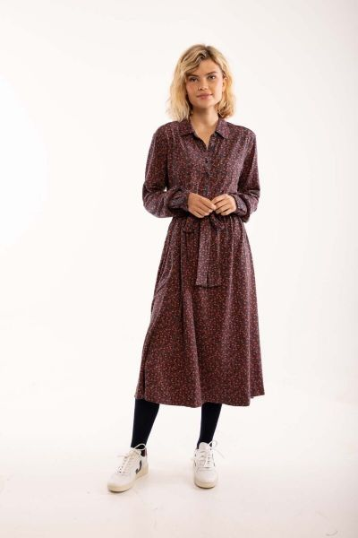 ORGANIC - Finest Dress Dusty navy FLEURIE