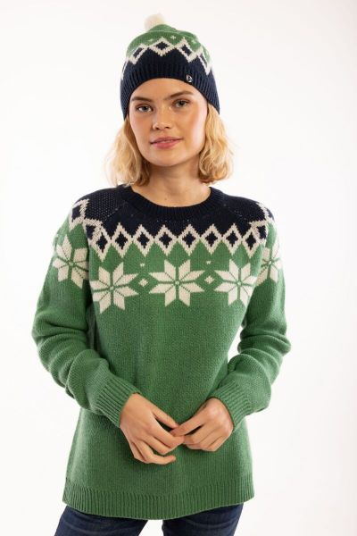 Hytte Sweater Green_Off White/Navy
