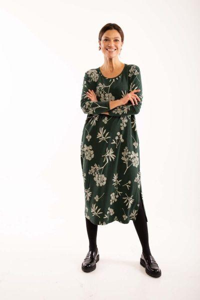 ORGANIC - Lea Dress Black green HEMLOCK