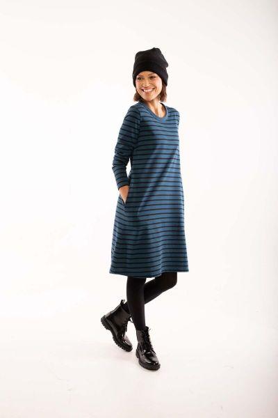 ORGANIC - Vibeke Dress Stone blue/black