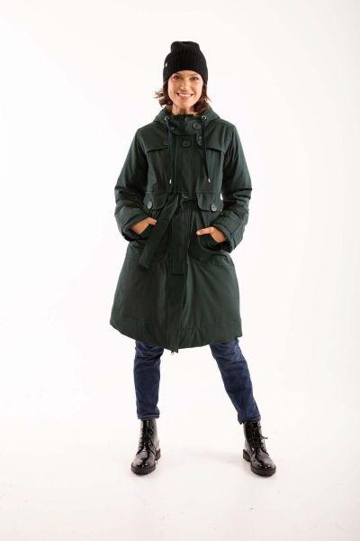 Else Stretch Winter Jacket Black green