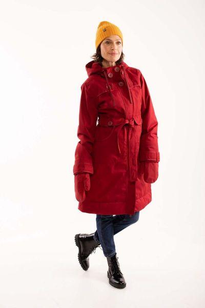 Else Stretch Winter Jacket Dark Red