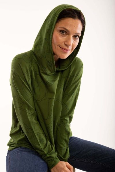 Oline Hoodie Khaki/bottle green BLOOM BOOM