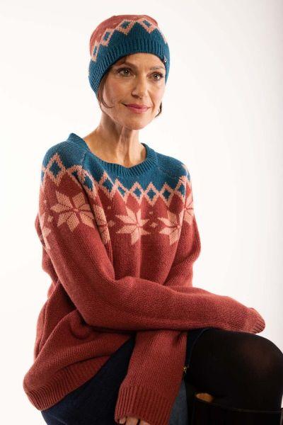 Hytte Sweater Rose Tile