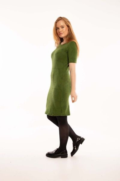 Polly Dress Khaki/bottle green BLOOM BOOM