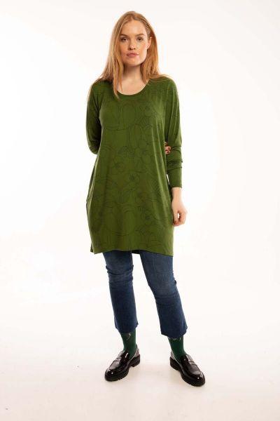 Veronica Tunic Khaki/bottle green BLOOM BOOM