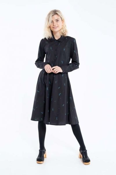 Ribe Dress Black/Dark Duck MARKBLOMST