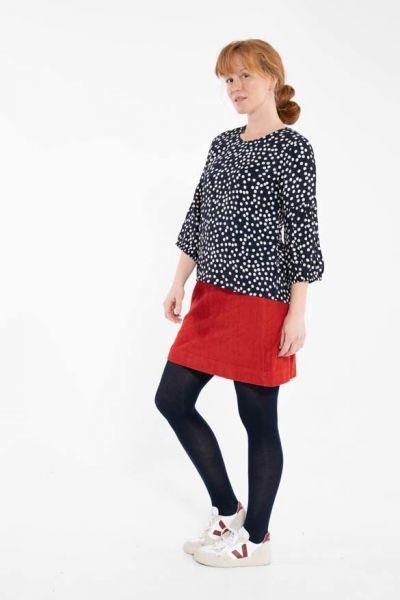 London Cord Skirt Dk Rust