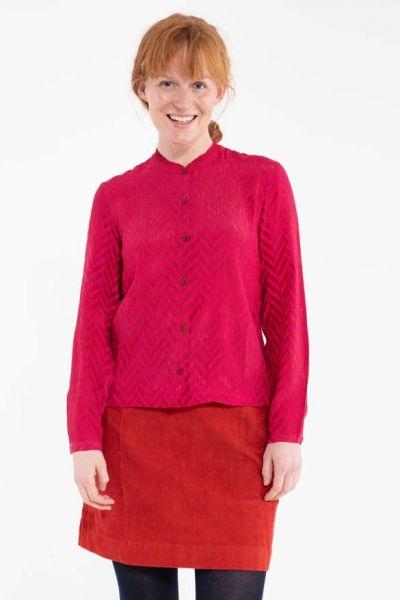 Nordby Shirt Dk Rust/Dk Hot Pink HERRINGBONE