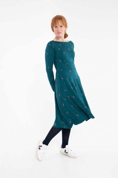 Sigrid Dress Dark Duck/Hotpink MARKBLOMST