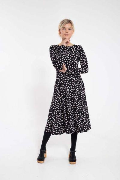 ORGANIC - Sigrid Dress Black/Lt Beige FUNDOTS
