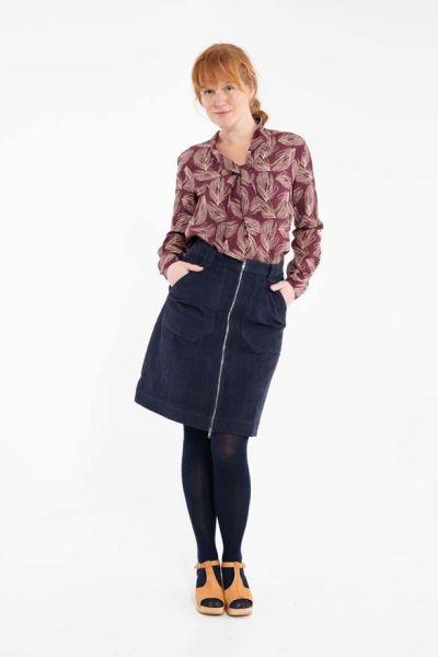 Madelaine Cord Skirt Dk Navy