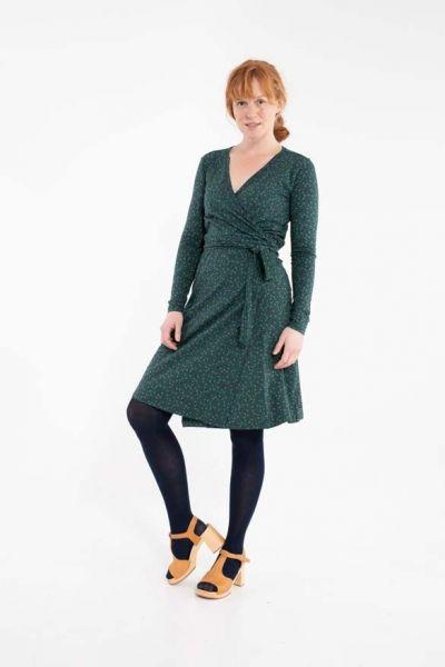 ORGANIC - Regina Dress Dark Navy FLEURIE