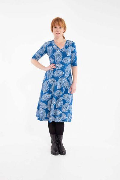 Organic - Andersen Dress Indigo/Lt Beige PALMA