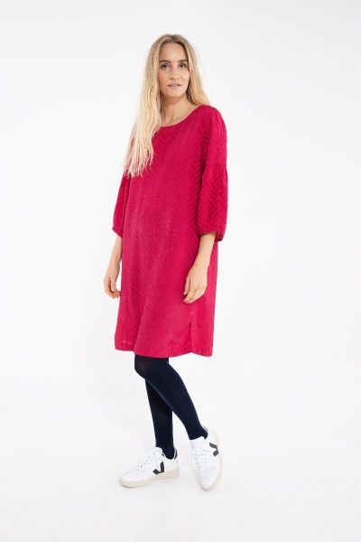 Caramella Dress Dk Rust/Dk Hot Pink HERRINGBONE
