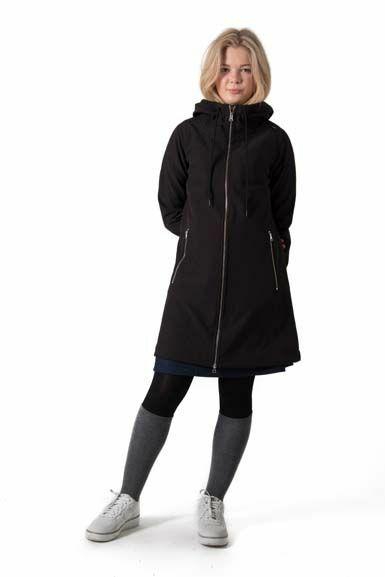 Jane Softshell Black (khaki fleece)