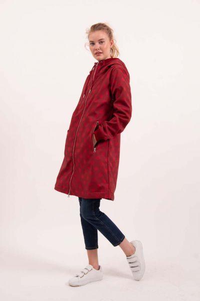 Jane Softshell Dark Red/Red DOTS