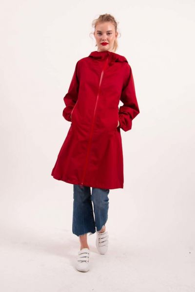 Vesterhav Rainjacket Dark Red